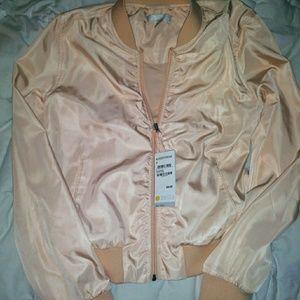GORGEOUS silky zara bomber jacket